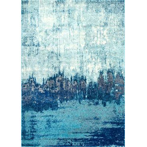 Alayna Abstract Blue Rectangular: 3 Ft. x 5 Ft. Rug