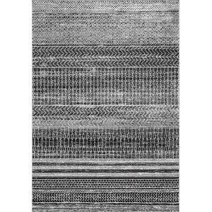 Nova Stripes Dark Gray Rectangular: 6 Ft. 7 In. x 9 Ft. Rug