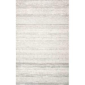 Nova Stripes Gray Rectangular: 6 Ft. 7 In. x 9 Ft. Rug