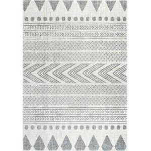 Shaina Tribal Gray Rectangular: 6 Ft. 7 In. x 9 Ft. Rug