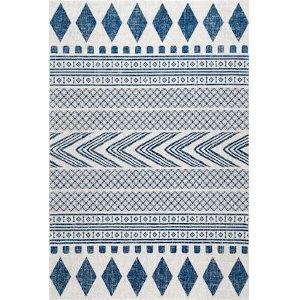 Shaina Tribal Blue Rectangular: 6 Ft. 7 In. x 9 Ft. Rug