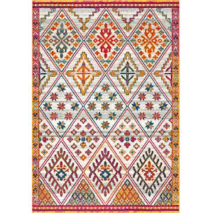Vintage Karlene Multicolor Rectangular: 8 Ft. x 10 Ft. Rug