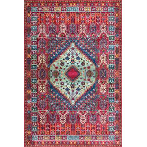 Vintage Lorie Red Rectangular: 5 Ft. 3 In. x 7 Ft. 7 In. Rug