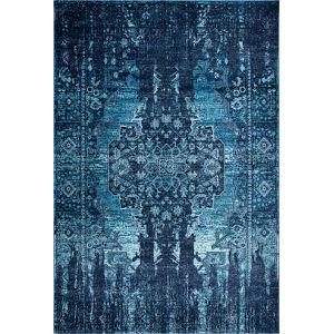 Vintage Drew Blue Rectangular: 7 Ft. 10 In. x 10 Ft. 10 In. Rug