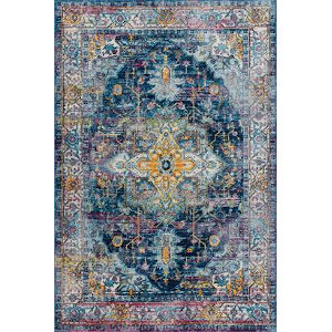 Vintage Judy Blue Rectangular: 5 Ft. 3 In. x 7 Ft. 7 In. Rug