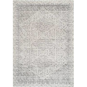 Vintage Exie Light Gray Square: 8 Ft. Rug