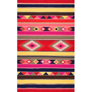 Flatweave Ladonna Tribal Kilim Multicolor Rectangular: 8 Ft. 6 In. x 11 Ft. 6 In. Rug