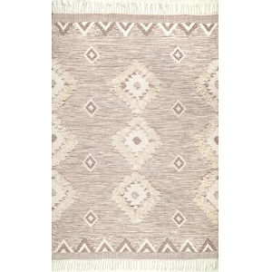 Savannah Moroccan Beige Rectangular: 5 Ft. x 8 Ft. Rug