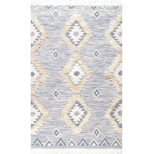 Savannah Moroccan Blue Rectangular: 7 Ft. 6 In. x 9 Ft. 6 In. Rug