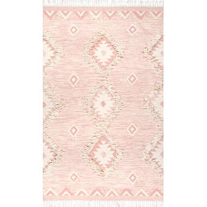 Savannah Moroccan Pink Rectangular: 7 Ft. 6 In. x 9 Ft. 6 In. Rug