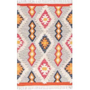 Miranda Aztec Multicolor Rectangular: 7 Ft. 6 In. x 9 Ft. 6 In. Rug