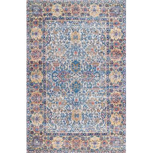 Maggie Blue Rectangular: 7 Ft. 6 In. x 9 Ft. 6 In. Rug