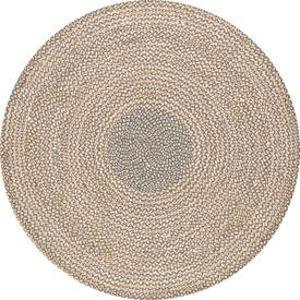Braided Draya Gray Round: 6 Ft. Rug