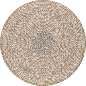 Braided Draya Gray Round: 8 Ft. Rug