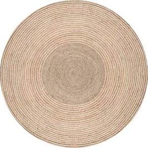 Braided Draya Natural Round: 6 Ft. Rug