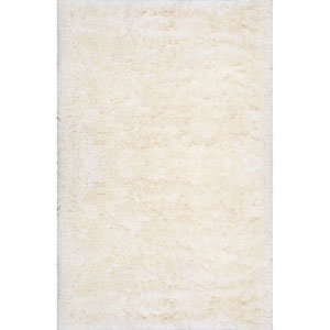 Kristan Shag Ivory Rectangular: 4 Ft. x 6 Ft. Rug