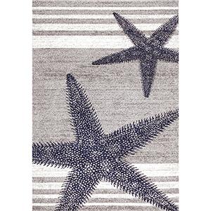 Thomas Paul Starfish Grey Rectangular: 5 Ft. x 8 Ft. Rug