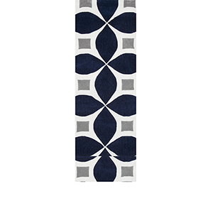 Gabriela Navy Runner: 2 Ft. 6 In. x 12 Ft. Rug