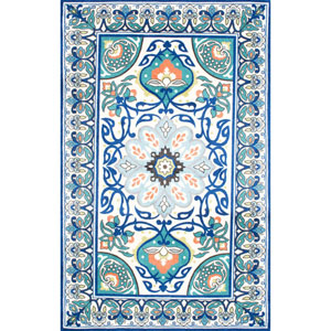 Blue Rectangular: 2 Ft. x 3 Ft. Rug