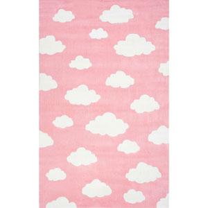 Cloudy Sachiko Pink Rectangular: 3 Ft. 6 In. x 5 Ft. 6 In. Rug