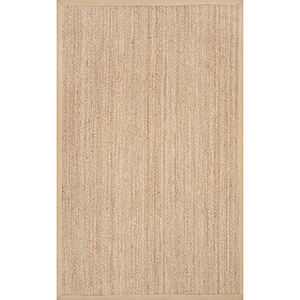 Elijah Seagrass with Border Beige Runner: 2 Ft. 6 In. x 6 Ft. Rug