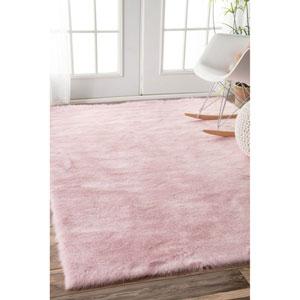 Pink Shag Rectangular: 2 Ft. 6 In. x 8 Ft.