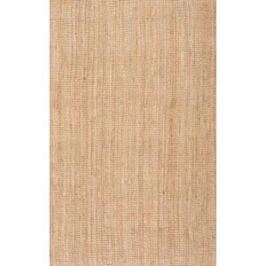 Ashli Solid Jute Natural Rectangular: 5 Ft. x 8 Ft. Rug
