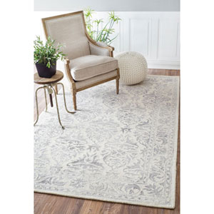 Hand Looped Krause Light Grey Runner: 2 Ft. 6 In. x 8 Ft.