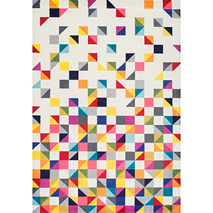 Takisha Triangle Multicolor Rectangular: 6 Ft. 7 In. x 9 Ft. Rug