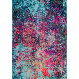 Reva Abstract Multicolor Rectangular: 4 Ft. 1 In. x 6 Ft. Rug