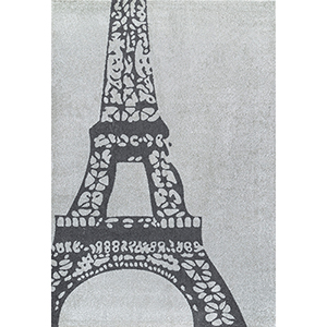 Grey Glennie Eiffel Rectangular: 5 Ft. x 8 Ft.