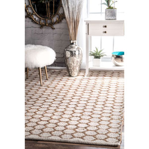 Reversible Honeycomb Alisha Jute Natural Rectangular: 4 Ft. x 6 Ft. Rug
