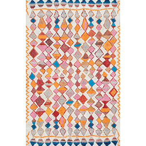 Multicolor Hand Tufted Moroccan Helaine Shaggy Rectangular: 3 Ft. x 5 Ft.