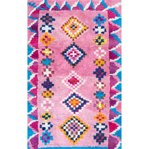 Pink Rectangular: 5 Ft. x 8 Ft. Rug
