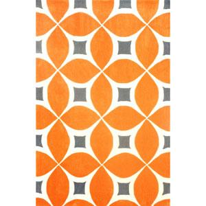 Gabriela Deep Orange Rectangular: 5 Ft. x 8 Ft.