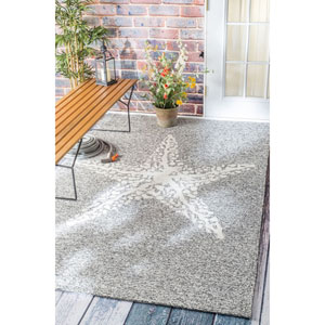 Outdoor Gray Rectangular: 4 Ft. x 6 Ft. Area Rug