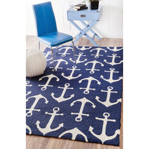 Despina Indoor/ Outdoor Area Navy Rectangular: 8 Ft. x 10 Ft. Area Rug