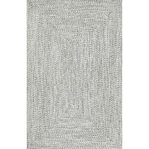Braided Lefebvre Salt and Pepper Rectangular: 7 Ft. 6 In. x 9 Ft. 6 In.