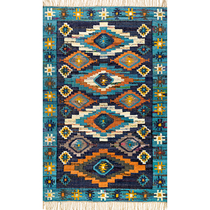 Flatweave Jaye Blue Rectangular: 7 Ft. x 9 Ft. Rug