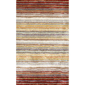 Red Multicolor Shag Rectangular: 5 Ft. x 8 Ft.
