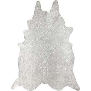 Dorian Cowhide Metallic Beige Shaped: 5 Ft. x 7 Ft.  Rug