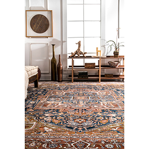 Ehtel Medallion Fringe Rust Rectangular: 3 Ft. x 5 Ft. Rug