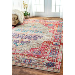 Red Rectangular: 2 Ft. 6-Inch x 8 Ft. Area Rug