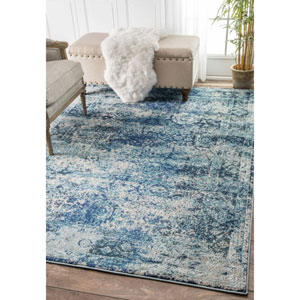 Ocean Blue Rectangular: 5 Ft. 3 In. x 7 Ft. 7 In.