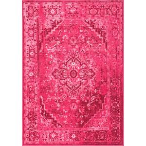 Vintage Reiko Pink Rectangular: 3 Ft. x 5 Ft. Rug