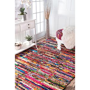 Multicolor Braided Chindi Cotton Michiko Rectangular: 3 Ft. x 5 Ft.