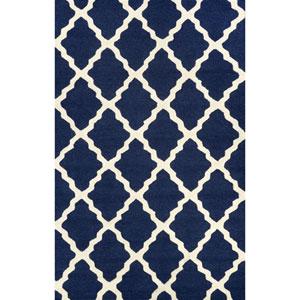 Marrakech Trellis Navy Blue Rectangular: 3 Ft 6 In x 5 Ft 6 In Rug