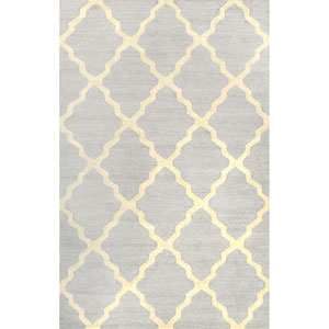 Marrakech Trellis Light Grey Rectangular: 3 Ft 6 In x 5 Ft 6 In Rug