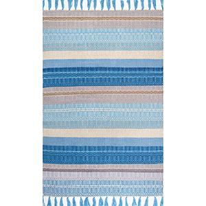 Tassel Indoor/Outdoor Lucile Light Blue Rectangular: 5 Ft. x 8 Ft. Rug