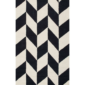 Katte Black and White Rectangular: 4 Ft. x 6 Ft. Rug
